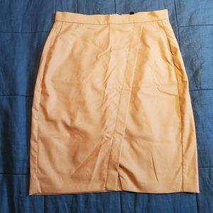 Banana Republic Camel Wrap-Look Skirt